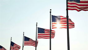 Flags at Washington Monument, Washington, DC stock video footage