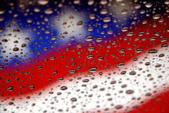 Flags and water drops stock photo