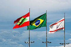 Flags waving Stock Photography