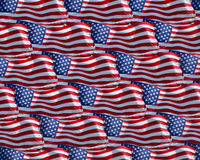 Flags waving. Collage of waving American flags royalty free stock photography