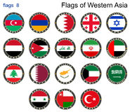 Flags of Western Asia. Flags 8. Stock Images