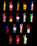 Flags of Western Europe Royalty Free Stock Images