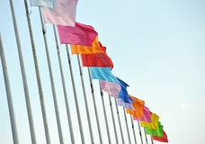 Flags in the wind Stock Photography
