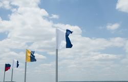 Flags in the wind Stock Image