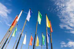 Flags in wind Royalty Free Stock Images