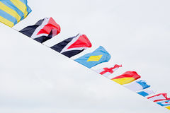 Flags in the Wind stock images