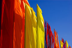 Flags In The Wind Royalty Free Stock Images