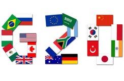 G20 Major Economies Stock Image