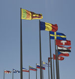 Flags of the World. Blowing in the wind Royalty Free Stock Image
