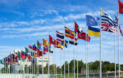 Flags of the world. Flapping in the wind Royalty Free Stock Photo