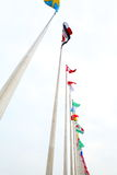 Flags of the world. Form from Chinese Export Commodities Fair Pazhou exhibition stock photos