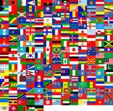 Flags of the world (240 flags). 240 flags of the world. It's good for texture 3D Royalty Free Stock Photo