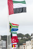 Flags of the world. Various flags of the world stock photos