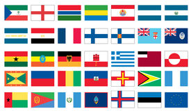 Flags of the world 3 of 8 Stock Photo