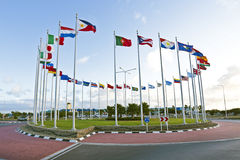 Flags from the world. In a circle Royalty Free Stock Photos