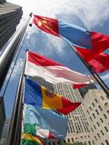 Flags of the world. Flapping in the wind stock images