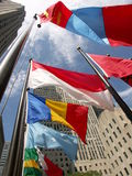 Flags of the world. Flapping in the wind Royalty Free Stock Photography