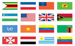 Flags of the world 8 of 8 Royalty Free Stock Photography