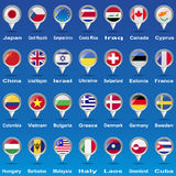 Flags from world. Royalty Free Stock Images