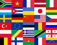 Flags of the world. Background flags of the world royalty free illustration