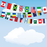 Flags of the world bunting Royalty Free Stock Images