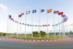 Flags from the world. In a circle Royalty Free Stock Photo