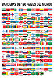 FLAGS OF THE WORLD 190 COUNTRIES Royalty Free Stock Photo