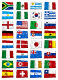 Flags world cup 2010 Royalty Free Stock Images