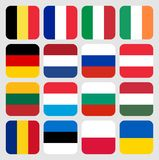 Flags of the World Europe royalty free stock photography