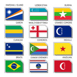Flags of the world Stock Photo