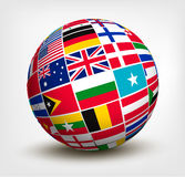 Flags of the world in globe. Stock Photo