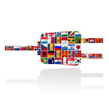 Flags of the world with icon set Royalty Free Stock Photos