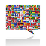 Flags of the world with icon set royalty free illustration