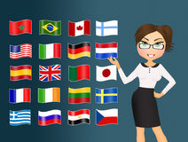 Flags of the world. Illustration of flags of the world Royalty Free Stock Photos