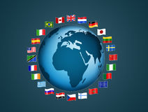 Flags of the world. Illustration of flags of the world Royalty Free Stock Photo