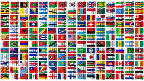 Flags of the world isolated on white Royalty Free Stock Image