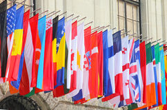 Flags of the world. Nations Stock Images