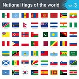 Flags of the world. Vector illustration of a stylized flag isolated on white. Flags of the world part 3. Vector illustration of a stylized flag isolated on white Stock Photos
