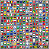 Flags of the world. Rounded squares with shadow, big set (2014 Royalty Free Stock Images