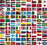 Flags of the world's countries Royalty Free Stock Image