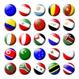 Flags of the World, Set 2 stock illustration