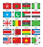 Flags world set Royalty Free Stock Image