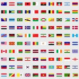 Flags of the world set. For web and mobile devices stock illustration