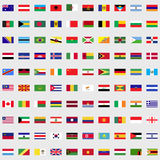 Flags of the world set. For web and mobile devices Vector Illustration