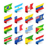 Flags of the World, South America. Illustration royalty free illustration