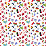 Flags of world sovereign states Stock Image