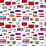 Flags of world sovereign states on white, seamless pattern Stock Image