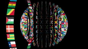Flags of the World sphere Royalty Free Stock Images