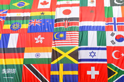 Flags of the world. Various flags of the world background Royalty Free Stock Image