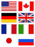 Flags of the world. Vector file of flags of the world Royalty Free Stock Photo